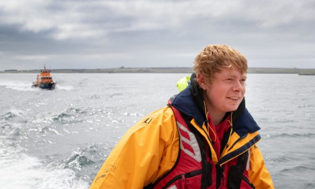 Ryan Davidson on a shout with the Thurso RNLI. Picture supplied by Karen Munro