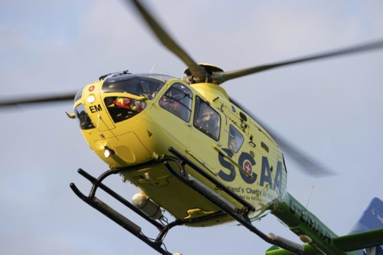 An SCAA helimed helicopter.