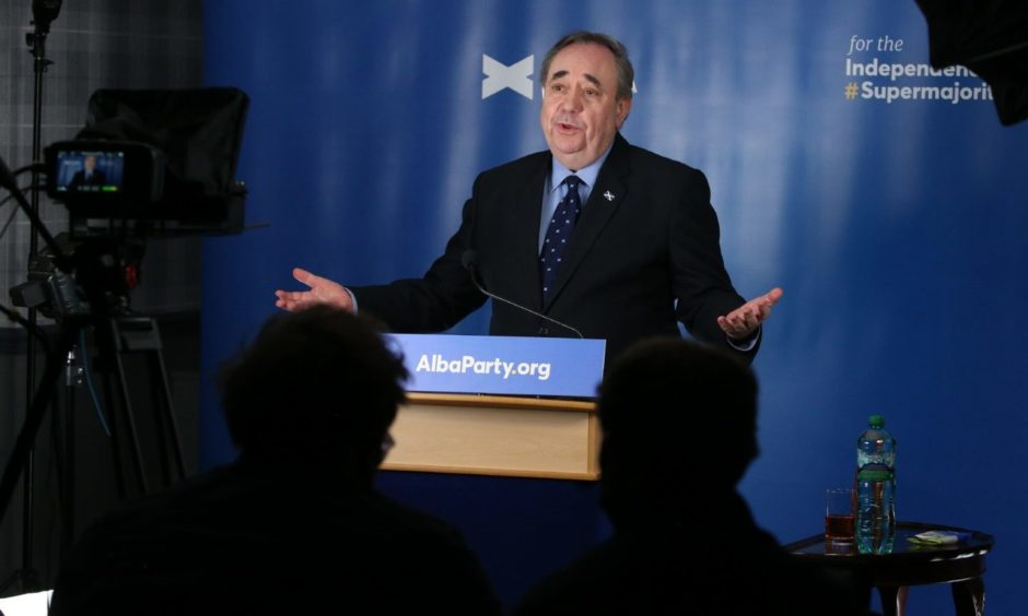 Alex Salmond, leader of the Alba Party