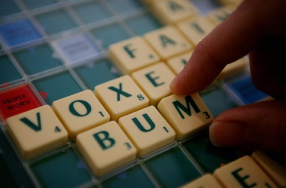 The finding were announced on National Scrabble Day.  Photo credit should read: Jane Mingay/PA
