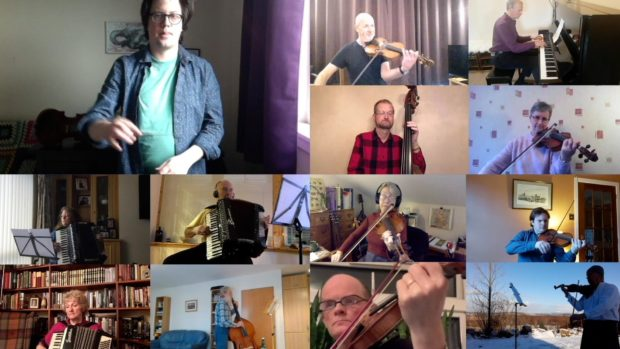 The Aberdeen Strathspey & Reel Society overcame technological battles to produce a record for posterity after meeting up on Zoom during lockdown.