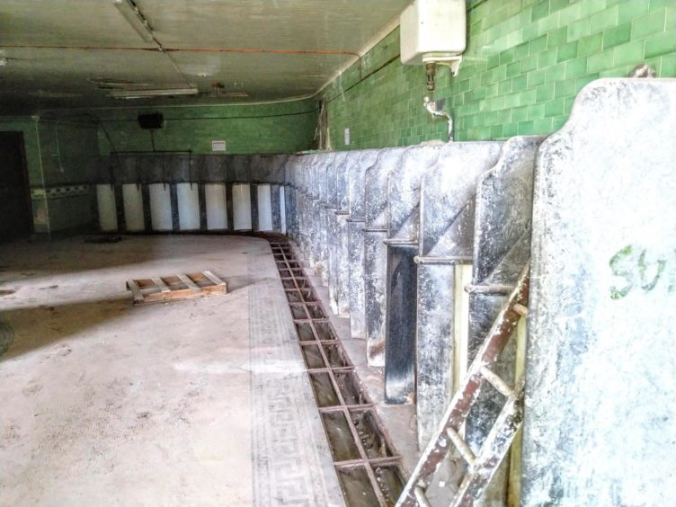 A rarely-seen glimpse inside the Victorian toilets at Union Terrace Gardens during recent refurbishment works.