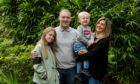 Richie Fraser with wife Laura and children Ava and Rhys.