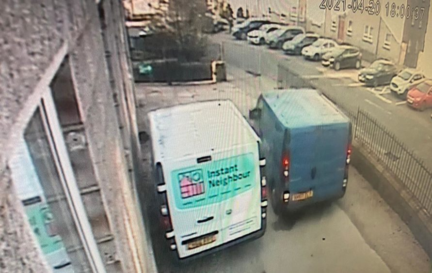 CCTV image of van