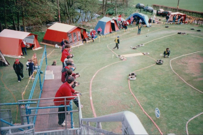 1990s: The old fire hoses used to lay out the off-road track are still the ones forming the circuit in 2021.