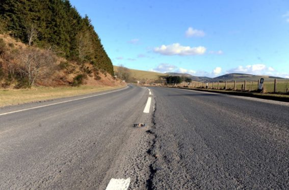 The Bainshole stretch of the A96, between Huntly and Inverurie. Picture by Chris Sumner