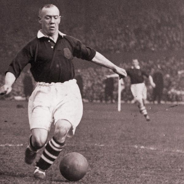 Hughie Gallacher playing for Scotland in 1935.