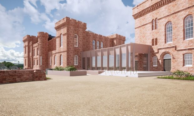 LDN Architect's impression of the new castle exterior