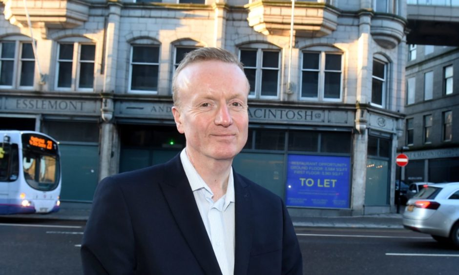 Aberdeen Inspired chief executive Adrian Watson in Union Street