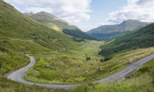 Rest and be Thankful: The A83 at Beinn Ime.