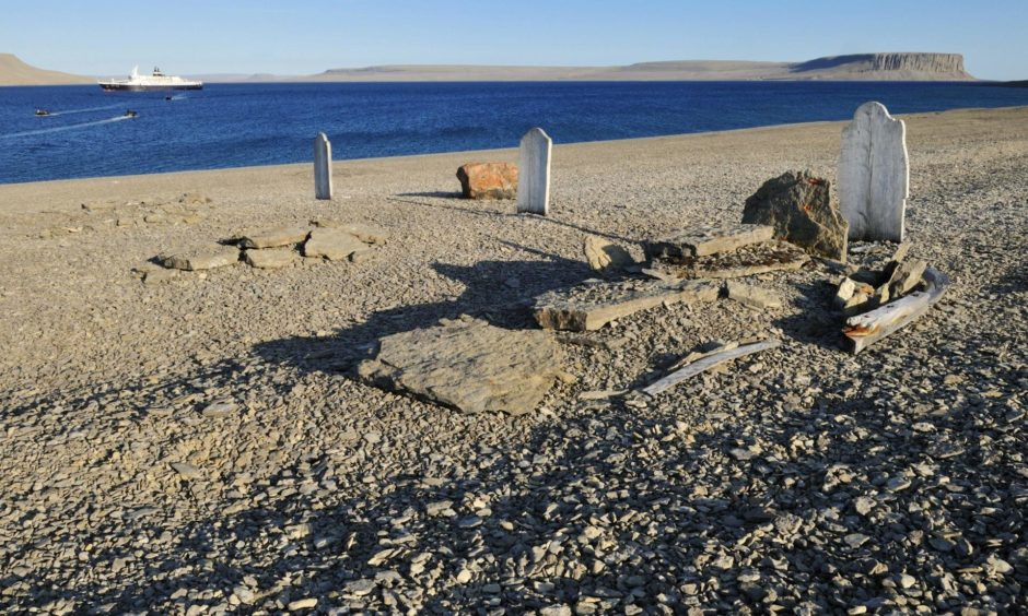 Robert Goodsir was the first to find the three graves on Beechey Island which gave the first clue to the fate of the doomed Franklin expedition.