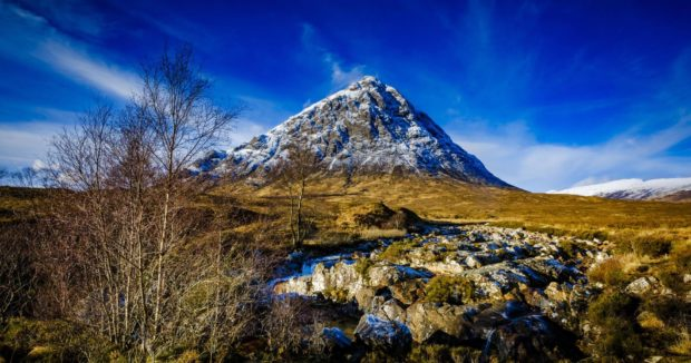 Rescuers were called to assist two men down Buachaille Etive Mor
