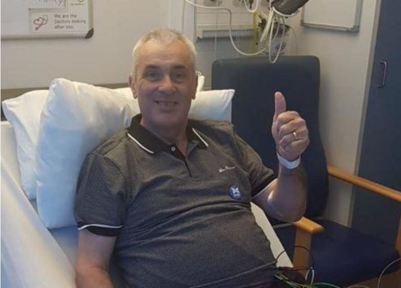 Alba candidate and veteran politician Brian Topping is recovering from a serious illness at Aberdeen Royal Infirmary, and has started campaigning from his bed.