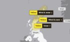 Weather warnings remain in place on Monday and Tuesday