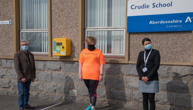 Local teen Olivia Rees and charity Keiran's Legacy have teamed up to secure a life-saving defibrillator for Crudie.