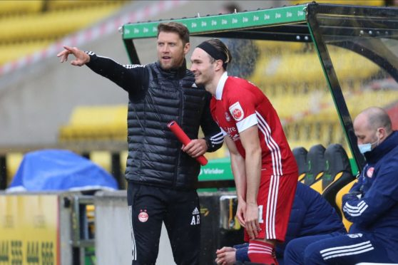 Aberdeen's Ryan Hedges makes his return as a substitute against Livingston.