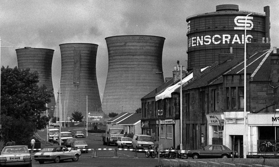 The former Ravenscraig steel works in Motherwell.