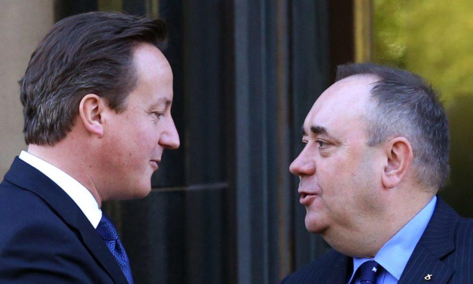 David Cameron and Alex Salmond.