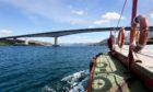 The MV Glenachulish with the Skye bridge behind.