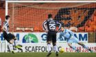 Aberdeen target Jamie McGrath nets a penalty against Dundee United.