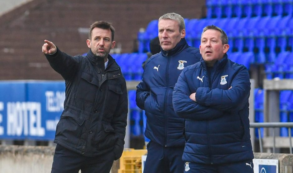 Neil McCann, Barry Wilson and Billy Dodds at Caley Thistle.