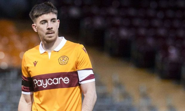 Motherwell's Declan Gallagher during a Scottish Cup tie against Greenock Morton at Fir Park.