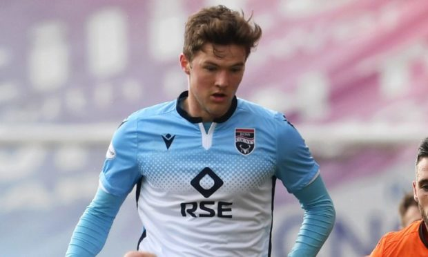 Blair Spittal in action for Ross County.