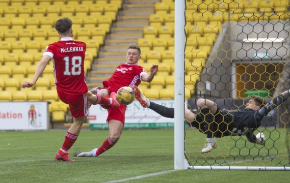 Callum Hendry put Aberdeen in front at Livingston