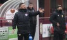 Kelty Hearts manager Barry Ferguson urges his side on against Brora Rangers in last weekend's pyramid play-off. Photograph by Craig Foy/SNS Group