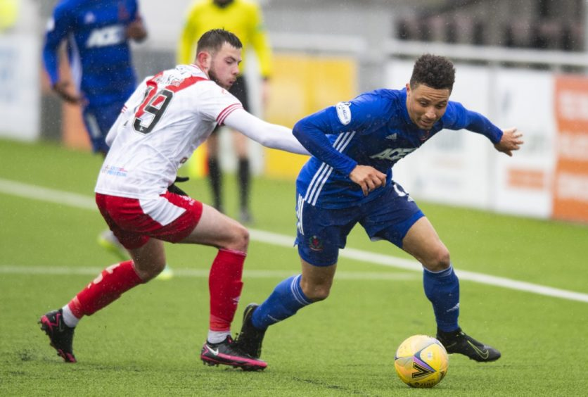 Leighton McIntosh, right, grabbed Cove Rangers' leveller against Airdrieonians.