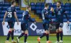 Ross County celebrate Blair Spittal's goal against Hamilton