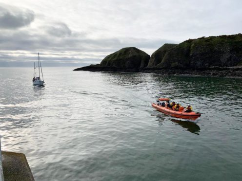 Early morning rescue in Stonehaven Supplied by Stonehaven RNLI