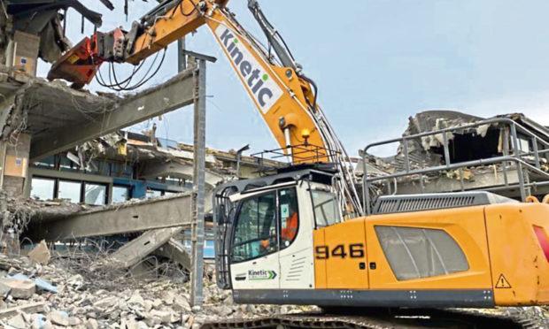 Demolition work at Amec Foster Wheeler's old City Gate offices in Altens, Aberdeen.