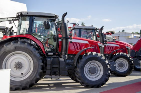 Sales of new tractors were up 11% last month.