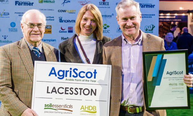 Previous best arable farm winners , John Weir snr, Tammy Weir and John Weir jnr of Lacesston Farm, Fife.