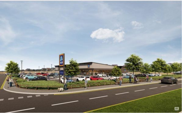 An artist impression of how the new store in Macduff could look
