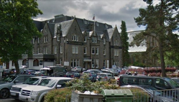 The incident took place in the car park of a hotel on Parade Square in Inverness.