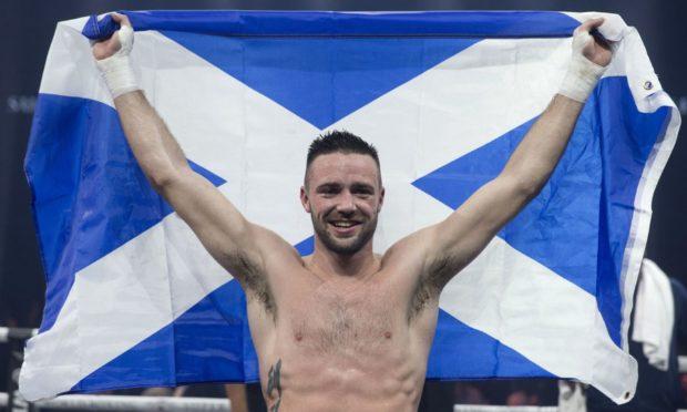 Scottish boxer Josh Taylor is flying the flag in Las Vegas