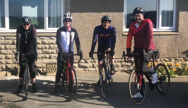 From left: Darren Anderson, Darren Milne, Robert Cowan and Mark Wood