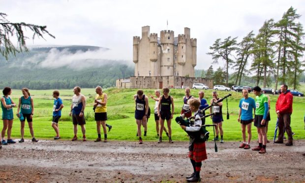 Runners taking part in Creag Choinnich Race. Supplied by Braemar Castle Date; Unknown