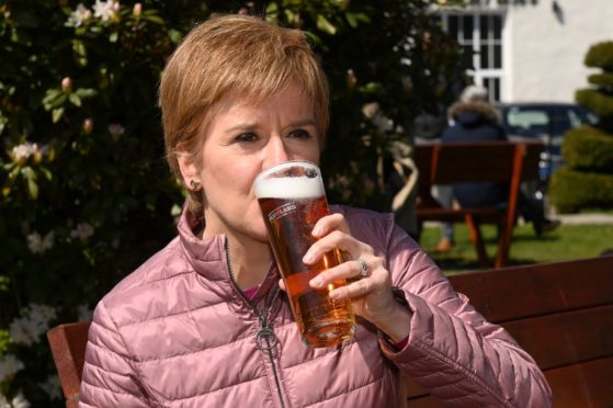 Nicola Sturgeon visited Alford to campaign for Fergus Mutch in Aberdeenshire West.