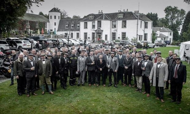To go with story by Lauren Taylor. DGR raising money Picture shows; Distinguished Gentleman's Ride. unknown. Supplied by Lenny Webster Date; Unknown