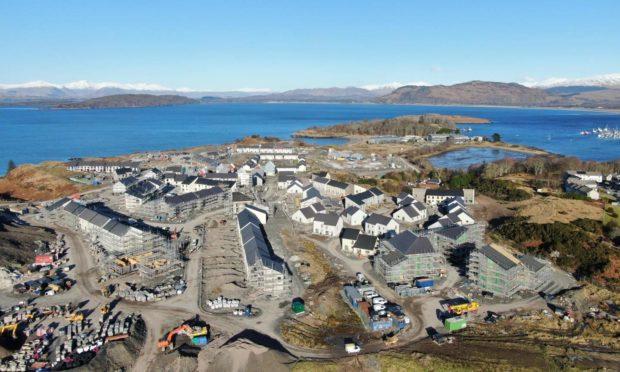 Housing under construction at Dunbeg.