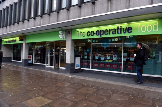 The incident happened at the Co-op store on Union Street