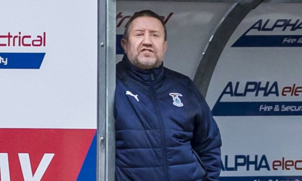 John Robertson, during his period in charge of Caley Thistle earlier this year.