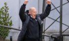 Elgin City boss Gavin Price celebrates.