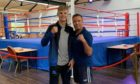 Moray boxer Fraser Wilkinson, left, with Elgin Boxing Club head coach Paul 'Ratch' Gordon