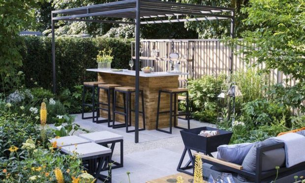 Outdoor space is popular with house buyers.