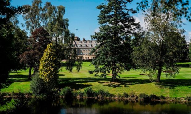 The iconic Gleneagles hotel nestled in the 850 acre estate.