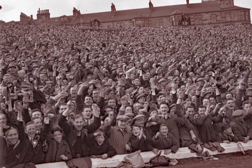 Hampden crowd during a Scotland versus England match, 1946.